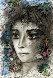 Portrait of a Woman 19x13 1986 Works on Paper (not prints) by Juan Carlos Benitez - 0