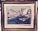 Greek Port with Remarque 1987 Limited Edition Print by Tony Bennett - 1