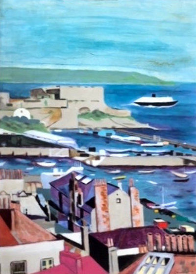 #1 Guernsey Steamer  38x28 Original Painting by Tony Bennett