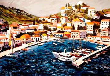 Greek Port 1987 Limited Edition Print - Tony Bennett
