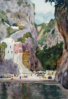 Amalfi Coast Watercolor 2004 Watercolor - Tony Bennett