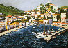 Greek Port with Remarque 1987 Limited Edition Print by Tony Bennett - 0