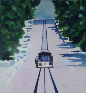 San Francisco Cable Car Watercolor 1996 21x22 Watercolor by Tony Bennett