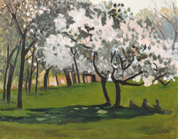 Central Park Landscape - #8, New York 1988 Original Painting - Tony Bennett