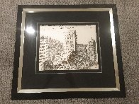 O Solo Mio on the Scene - Powell St. San Francisco Drawing 18x24 Works on Paper (not prints) by Tony Bennett - 1