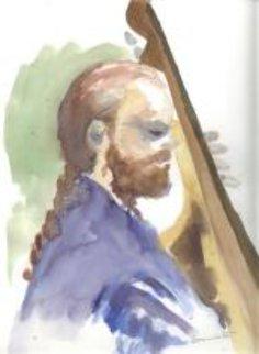 Doug Richeson ( Tony Bennett's Bass Player ) 1995 Watercolor by Tony Bennett