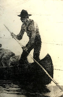 Riverman 1920 Limited Edition Print by Frank Weston Benson