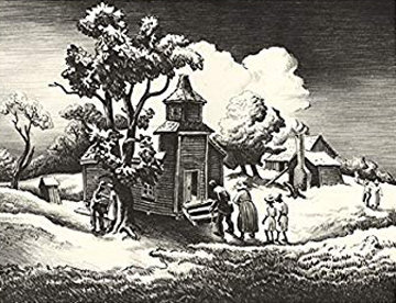 Sunday Morning 1939 Limited Edition Print - Thomas Hart Benton