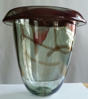 Untitled Early Glass Vase Sculpture 1978 Sculpture - Howard Ben Tre