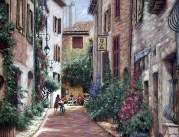 Bella Villagio 2002 50x41 Super Huge Original Painting - Stephen Bergstrom
