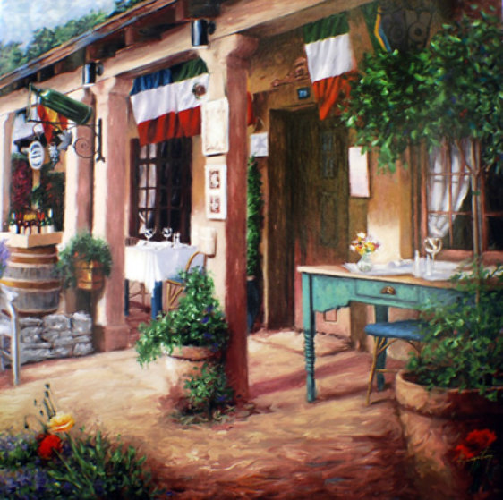 Cafe De France Limited Edition Print by Stephen Bergstrom