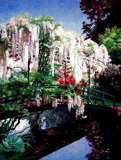 Wisteria Serenade 2002 80x62 Original Painting - JB Berkow
