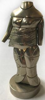 Mini-Cariatide Metal Sculpture 1969 6 in Sculpture by Miguel Ortiz Berrocal