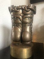 Goliath Puzzle Brass Sculpture 1968 10 in Sculpture by Miguel Ortiz Berrocal - 2