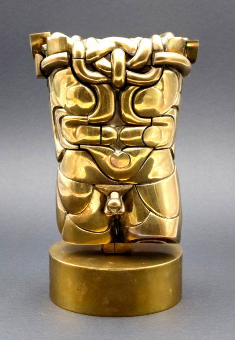 Goliath Puzzle Brass Sculpture 1968 10 in Sculpture by Miguel Ortiz Berrocal