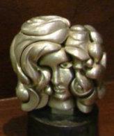Portrait De Michele Bronze Sculpture Sculpture by Miguel Ortiz Berrocal - 0