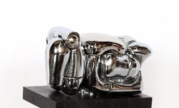 Mini Maria Nickel Plated Sculpture 1969 Sculpture by Miguel Ortiz Berrocal