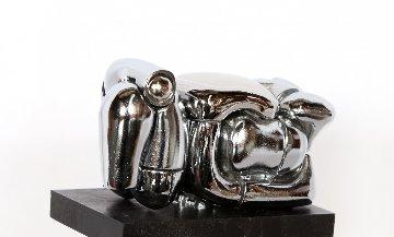 Mini Maria Nickel Plated Sculpture 1969 Sculpture by Miguel Ortiz Berrocal