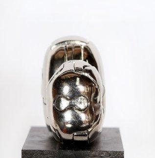 Mini-Zoraida Nickel Plated Sculpture 1970 Sculpture by Miguel Ortiz Berrocal