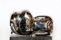 Mini-Zoraida Nickel Plated Sculpture 1970 Sculpture by Miguel Ortiz Berrocal - 3