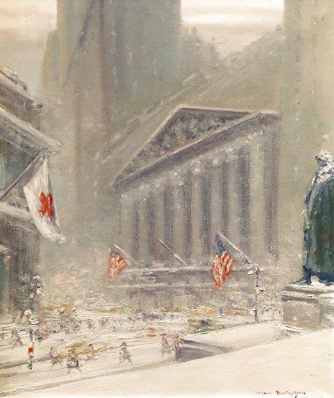 Untitled, New York Scene w Treasury Building & Washington Monument 24x20 Original Painting by Johann Berthelsen