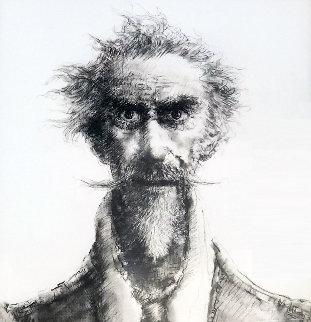 Don Quijote 50x40 Drawing - Juan Angel Castillo Bertho