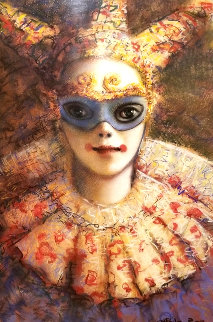 Renaissance Clown 2005 40x32 Original Painting - Juan Angel Castillo Bertho