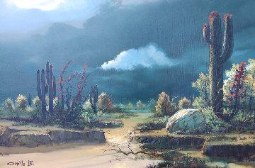 Sonora Desert Arroyo 29x41 Original Painting - Juan Angel Castillo Bertho