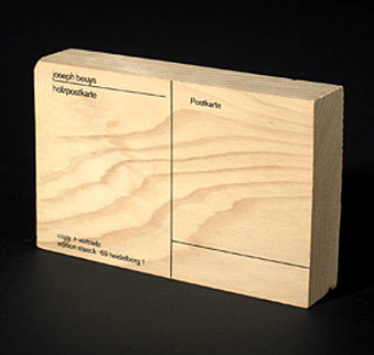 Holzpostkarte 1974 Limited Edition Print - Joseph Beuys