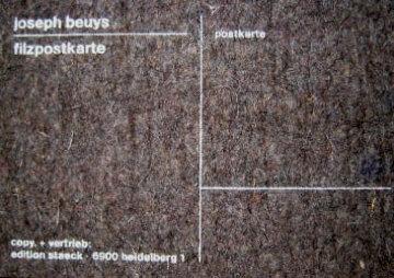 Filzpostkarte 1985 Limited Edition Print - Joseph Beuys