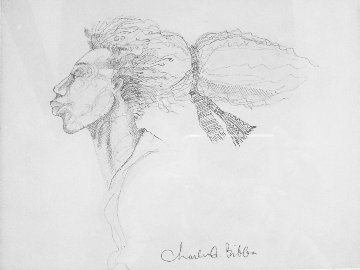 Windface Study Drawing 1999 14x17 Drawing by Charles Bibbs