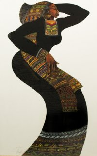 Lady in Black III 1996 Limited Edition Print by Charles Bibbs