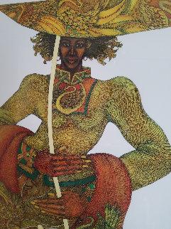 Yellow Umbrella Remarque 2003 Limited Edition Print - Charles Bibbs