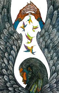 Guardian Angel AP 2011 w/ Remarque  Limited Edition Print - Charles Bibbs