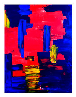 Volcanic Eruption 2019 50x38 Original Painting - Frances Bildner