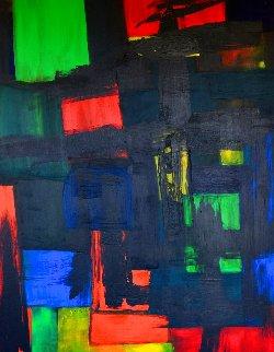 Windows Manhattan 2020 48x36 Super Huge Original Painting - Frances Bildner