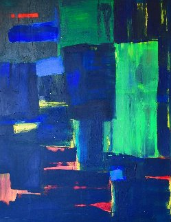 Windows Manhattan Too 2020 48x36 Original Painting - Frances Bildner