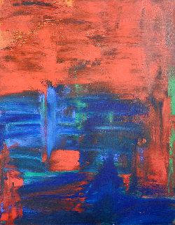 Skyros 2019 44x34 Super Huge Original Painting - Frances Bildner