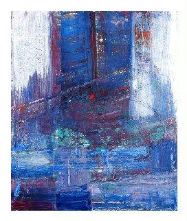 Cloudy Day Manhattan 2020 24x20 Original Painting - Frances Bildner