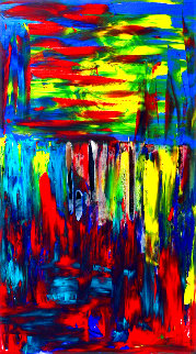 Jungle 2020 56x26 Original Painting - Frances Bildner