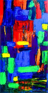 Untitled in Colour 2019 66x34 Super Huge Original Painting - Frances Bildner