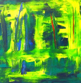 Green 2019 32x24 Original Painting - Frances Bildner