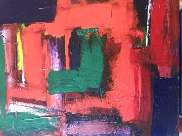 Hommage to Hodgkin 2019 25x21 Original Painting - Frances Bildner