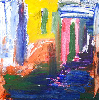 Night New York 2021 41x41 Huge Original Painting - Frances Bildner