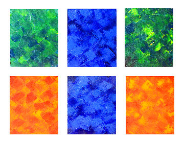 Untitled Painting  (In 6 Clusters) 2021 13x10 Original Painting - Frances Bildner