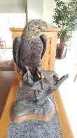 American Fisherman Bronze Sculpture 1982 33 in Sculpture by Bill Hald - 1