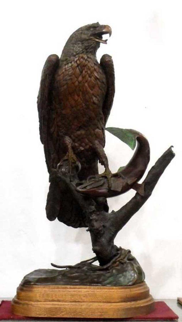 American Fisherman Bronze Sculpture 1982 33 in Sculpture by Bill Hald