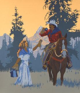 Cowboy Coffee  PP  1991  Limited Edition Print - Bill Schenck