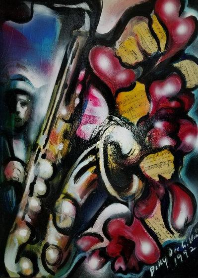 Jazz Love 1992 30x24 Original Painting by Billy Dee Williams