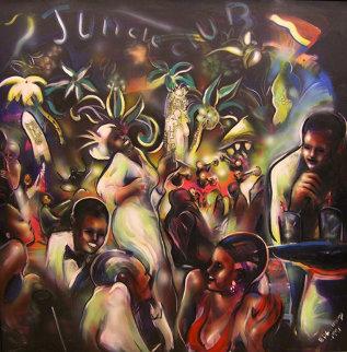 Good Times Jungle Club, The Savoy 1991 55x55 Huge Original Painting - Billy Dee Williams